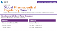 GLOBAL REGULATORY PHARMACEUTICAL SUMMIT Regulatory and Industry Panel Discussion icon