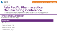 APAC PHARMACEUTICAL MANUFACTURING CONFERENCE Opening Plenary Session  icon
