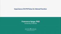 Importance of ACTH Pulses for Adrenal Function