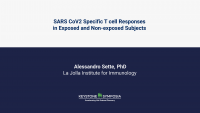 SARS CoV2 Specific T cell Responses in Exposed and Non-exposed Subjects