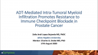 Short Talk: ADT-Mediated Intra-Tumoral Myeloid Infiltration Promotes Resistance to Immune Checkpoint Blockade in Prostate Cancer