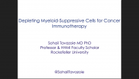 Depleting Myeloid-Suppressive Cells for Cancer Immunotherapy