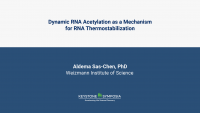 Dynamic RNA acetylation as a mechanism for RNA thermostabilization