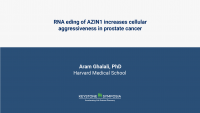RNA eding of AZIN1 increases cellular aggressiveness in prostate cancer