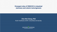 Divergent roles of HMGCS2 in intestinal stemness and colonic tumorigenesis