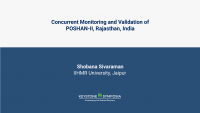 Concurrent Monitoring and Validation of POSHAN-II, Rajasthan, India