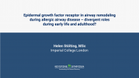 Epidermal growth factor receptor in airway remodeling during allergic airway disease – divergent roles during early life and adulthood?
