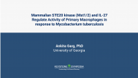 Mammalian STE20 kinase (Mst1/2) and IL-27 Regulate Activity of Primary Macrophages in response to Mycobacterium tuberculosis