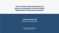 TOLLIP resolves lipid-induced EIF2 signaling in alveolar macrophages for durable Mycobacterium tuberculosis protection.