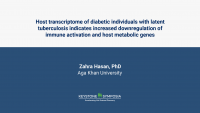 Host transcriptome of diabetic individuals with latent tuberculosis indicates increased downregulation of immune activation and host metabolic genes