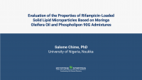 Evaluation of the Properties of Rifampicin-Loaded Solid Lipid Microparticles Based on Moringa oleifera oil and Phospholipon 90G Admixtures