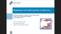 Short Talk: Biomarkers to Predict Leprosy: it takes two…