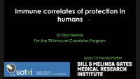 Short Talk: Immune Correlates of Protection in Humans