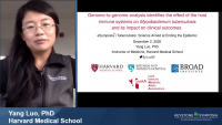 Short Talk: Genome‑to‑Genome Analysis Identifies the Effect of the Host Immune Systems on Mycobacterium Tuberculosis and Its Impact on Clinical Outcomes