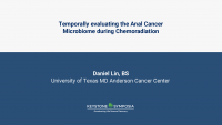 Temporally evaluating the Anal Cancer Microbiome during Chemoradiation