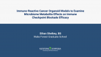 Immuno-Reactive Cancer Organoid Models to Examine Microbiome Metabolite Effects on Immune Checkpoint Blockade Efficacy