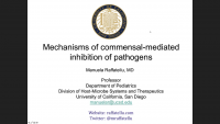 Mechanisms of Commensal‑Mediated Inhibition of Pathogens icon