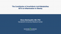 The Contribution of Arachidonic Acid Metabolites EETs to Inflammation in Obesity