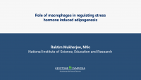 Role of macrophages in regulating stress hormone induced adipogenesis