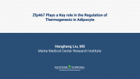 Zfp467 Plays a Key role in the Regulation of Thermogenesis in Adipocyte