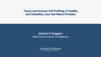 Tissue and Immune Cell Profiling of Healthy and Unhealthy, Lean and Obese Primates