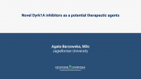 Novel Dyrk1A inhibitors as a potential therapeutic agents