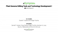 Plant Genome Editing Tools and Technology Development I