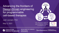 Advancing the Frontiers of Design-Driven Engineering for Programmable Cell-Based Therapies icon