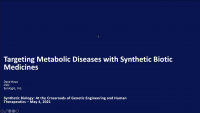 Targeting Metabolic Diseases with Synthetic Biotic Medicines