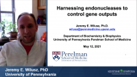 Harnessing Endonucleases to Control Gene Outputs icon