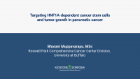 Targeting HNF1A-dependent stemness and tumor growth in pancreatic cancer