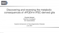 Short Talk: Discovering and Reversing the Metabolic Consequences of APOE4 in iPSC-Derived Glia icon