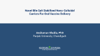 Novel Bile Salt Stabilized Nano-Colloidal Carriers For Oral Vaccine Delivery icon