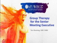 Group Therapy for the Senior Meeting Executive