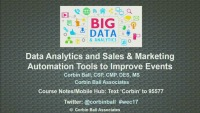 Using Analytics and Automation Tools to Improve Events