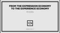 Masterclass: From the Expression Economy to the Experience Economy – Start Winning the Battle for Time, Start Designing Experiences!