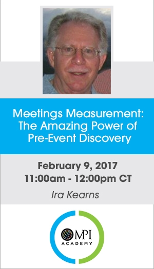Meetings Measurement: The Amazing Power of Pre-Event Discovery - Member