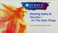 Meeting Safety & Security - It's the Little Things