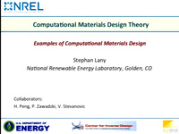 Tutorial NN - Materials by Design - New Materials Discovery by Inverting Conventional Approaches<br />Part 2: Computational Materials Design Theory