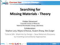 Tutorial NN - Materials by Design - New Materials Discovery by Inverting Conventional Approaches<br />Part 3: New Materials Discovery Theory