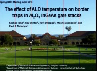 The Effect of ALD Temperature on Border Traps in Al2O3 InGaAs Gate Stacks