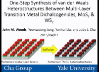 One-Step Synthesis of Van der Waals Heterostructures between Multi-Layer Transition Metal Dichalcogenides, MoS2 and WS2