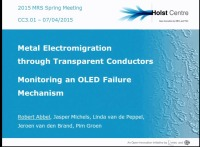 Metal Electromigration through Transparent Conductors - Monitoring an OLED Failure Mechanism
