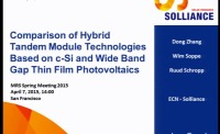Comparison of Hybrid Tandem Module Technologies Based on c-Si and Wide Band Gap Thin Film Photovoltaics
