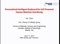 Personalized Intelligent Keyboard for Self-Powered Human-Machine Interfacing