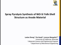 Spray Pyrolysis Synthesis of NiO-Si Yolk-Shell Structure and Their Application as Anode Material in Lithium Ion Batteries