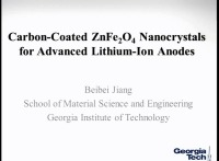 Carbon-Coated ZnFe2O4 Nanocrystals for Advanced Lithium-Ion Anodes