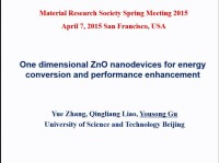 Performance and Service Behavior of ZnO Based Energy Conversion Nanodevices
