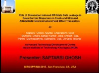 Role of Dislocation Induced Off-State Gate Leakage in Drain Current Dispersion in Fresh and Stressed AlGaN/GaN Heterostructure Field Effect Transistors