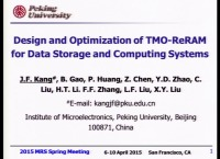 Design and Optimization of Transition Metal Oxide-Based Resistive Switching Devices for Data Storage and Computing Systems